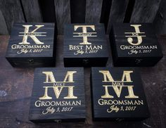 Groomsmen gift set 5-12 - Gift set- Wedding gift set Keepsake box-Groomsmen gift - Memory Box - Wedding gift - Rustic Wedding - Gift for him by YouandIcollection on Etsy www.etsy.com/...