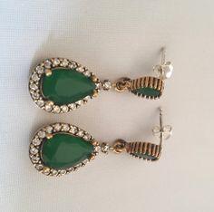 Sterling Silver Earrings , Silver Earrings ,Emerald Earrings , Zircon Earrings, Rosesilver Earrings by Rosestyle on Etsy