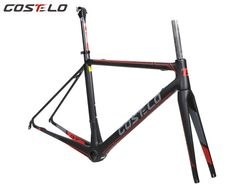COSTELO GT ZERO 7 carbon road bike frame,fork headset clamp, seatpost Carbon Road bicycle Frame Light weight free shipping