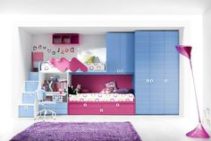 Bedroom: Stunning Built In Bunk Beds Plans Along With Teenage Bedroom Ideas With Bunk Beds Together With Kids Room With Bunk Beds: Shared Bedroom Ideas with Bunk Beds for Twin