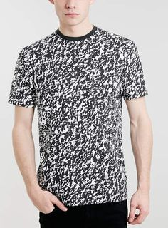 BLACK INK SPLASH CLASSIC CREW T-SHIRT