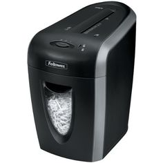 """Fellowes 3330101, Powershred 59CB Personal Cross-Cut Shredder, 9 Sheet Cap, 10 in.x16 in.x16-1/2 in., Black/Silver by Fellowes. $99.95. Deskside, cross-cut shredder features Jam Blocker Technology that blocks jams before they start. Patented Safety Lock disables shredder for added safety protection. Powershred 59Cb Cross-Cut Shredder shreds 9 sheets per pass into 5/32"""" x 2"""" cross-cut particles (Security Level 3). Confetti falls into 4 gallon pullout bin that is easy to empty..."""
