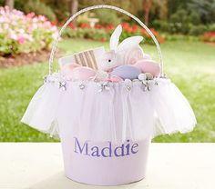 Lavender Pretty Easter Bucket #pbkids DIY bucket