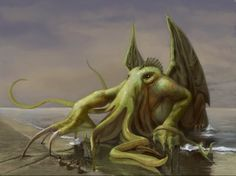 """It's well known that the great Cthulhu has a particular bond with artists of all sorts. Lovecraft's """"The Call of Cthulhu"""" it's docu. Lovecraft Cthulhu, Hp Lovecraft, Cthulhu Art, Lord, Call Of Cthulhu, Science And Nature, Fantasy Art, Creatures, Fan Art"""