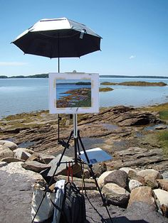 An article from Artists Network featuring artists and their way of setting up for Plein Air Painting
