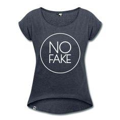 No Fake - Original - Typo - Button - Design - Shirt