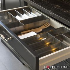 We have recently added stainless steel drawer inserts to our collection. They don't just look great in your kitchen drawer, but are also a great solution for your caravan drawers! Find them on www.hafelehome.com.au #myhafelehome #dreamkitchen #kitchengoals #kitchenstorage #kitchendrawer #drawerinsert #stainlesssteel #interiordesign #designtrends #kitchendesign #kitcheninterior