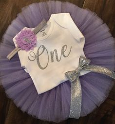 Purple and Silver First Birthday Outfit // Spring Birthday Outfit // Purple and Silver Tutu Set Purple and Silver First Birthday Outfit // by LittlePrincessBottom Baby Girl First Birthday, Blue Birthday, Bday Girl, Birthday Tutu, Birthday Bash, First Birthday Parties, Birthday Celebration, First Birthdays, Birthday Ideas