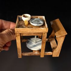 Potters Kick Wheel in 1/12 scale by Troy Schmidt - Red Dragon Pottery