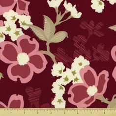 Modern Meadow Cotton Fabric - Floral - Violet