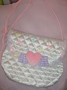 white bag - quilted material