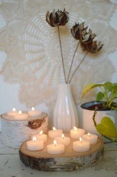 Birch tealight holder DIY