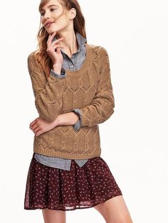 Womens Cable-Knit Sweaters
