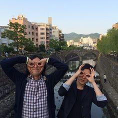 シュローダーヘッズの渡辺シュンスケくんと眼鏡橋に来ました\(^o^)/