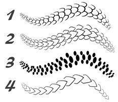 simple drawings of snake skins