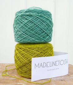 I LOVE MadelineTosh Yarns...(Madelinetosh Merino Light  Clover and Grasshopper)