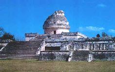 yucatec mayan observatory, chichen itza, mexico