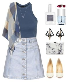 """""""Mint Water. """" by orpitaazmiri ❤ liked on Polyvore featuring Topshop, Dorothy Perkins, Christian Louboutin, Balenciaga, Tiffany & Co., Nails Inc., NARS Cosmetics, women's clothing, women's fashion and women"""