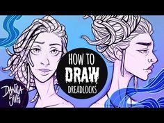 How to Draw Dreadlocks ♦ Hair Drawing Tutorial - YouTube