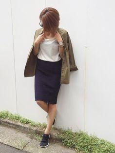 秋コーデ🍂 スカートはguです。 Instagram⇨mana.801