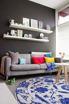 cores...para um sofá cinza!