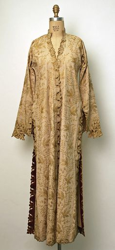 Turkish, coat (üçetek). Late-Ottoman, urban, end of 19th century.