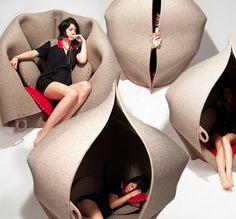 これぞ隠れ家!かわいいフェルトのソファが面白いことに! | iemo[イエモ] | リフォーム&インテリアまとめ情報