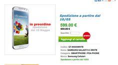 Galaxy S4 disponibile al Pre-Ordine per 599€!