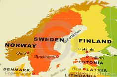 Photo about Close up of Norway, Sweden and Finland on map. Image of location, country, sweden - 6838506 Finland Map, Norway Sweden Finland, Denmark, Helsinki, Oslo S, Riga Latvia, Map Globe, Location Map, Seville