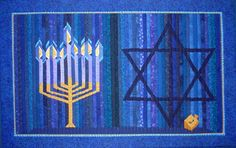 hebrew symbols quilting | The final step was to embroider the Hebrew symbol on the driedl. I ...