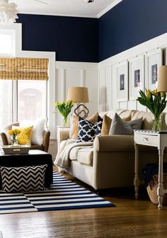 Perfect Navy Blue Living Room with Best 25 Navy Living Rooms Ideas On Home Decor Navy Blue Living Navy Living Rooms, Blue Living Room, Family Room, Home And Living, Summer Living Room, Living Room Designs, Living Room Color, Coastal Living Rooms, Navy Blue Living Room