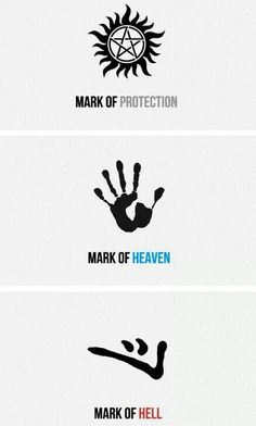 Dean Winchester and his Marks // Mark of Protection // Mark of Heaven // Mark of Hell