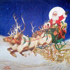 Santa In John Deere Sleigh