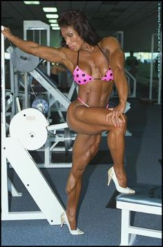Female Bodybuilder Leilani Dalumpines posing her hot muscles for wpwmax! Great legs, check out her awesome calves!