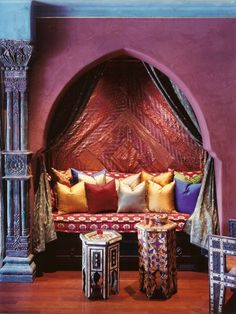 Yves Saint Laurent's nook in Marrakesh.