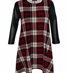 7 Fashion Road NEW WOMENS CELEBRITY INSPIRED VICKY PVC WET LOOK PU SLEEVES FLARED RED TARTAN SWING SKATER DRESS TOP * Celebrity Vicky Pattison Exclusive Swing Dress * All Over Tartan Check Print * Excellent Crepe Fabric * Scoop Neckline, Long Sleeves *Approximate Length: 31.5 / 80cm (Barcode EAN = 5690536902296) http://www.comparestoreprices.co.uk/celebrity-fashion/7-fashion-road-new-womens-celebrity-inspired-vicky-pvc-wet-look-pu-sleeves-flared-red-tartan-swing-skater-dress-top.asp