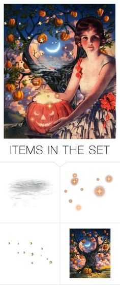 """Jack-o-Lantern Glow"" by brooksie1920 ❤ liked on Polyvore featuring art and vintage"