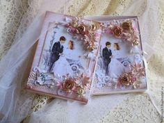 """Свадебные открытки ручной работы. Ярмарка Мастеров - ручная работа. Купить Свадебная открытка в коробочке """"Счастливый день!"""" (кремовый). Handmade."""