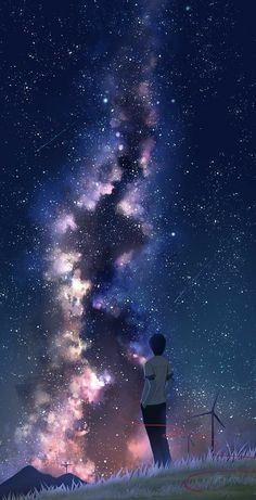 Art scenery - Best of Wallpapers for Andriod and ios Sky Anime, Anime Galaxy, Galaxy Art, Dark Anime, Galaxy Space, Anime Backgrounds Wallpapers, Anime Scenery Wallpaper, Animes Wallpapers, Night Sky Wallpaper