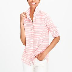 Striped gauze boy shirt factorywomen shirts & tops c