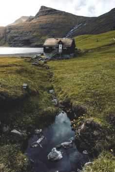 Faroe Island Weather (Guide With Pictures) The Places Youll Go, Places To Go, Landscape Photography, Nature Photography, Scenic Photography, Nature Aesthetic, Cabins And Cottages, Faroe Islands, Cabins In The Woods
