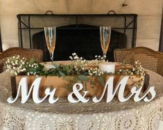wedding reception Mr & Mrs Wedding Table Decoration Signs for Sweetheart Table Decor, Centrepieces for Wedding Ceremony Mr and Mrs Top Table Decor Couple Gift Bridal Party Tables, Wedding Table, Head Table Wedding Decorations, Sweet Heart Table Wedding, Wedding Entrance Table, Perfect Wedding, Wedding Welcome Table, Wedding Cakes, Stage Decorations