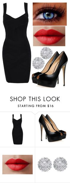 """""""blackkk"""" by the-girl-who-lived7 ❤ liked on Polyvore featuring Giuseppe Zanotti, LORAC and Allurez"""