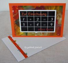 Glückwunschkarten - Karte Einschulung Schulanfang 1. Schultag  - ein Designerstück von Gabriele-Jentsch bei DaWanda