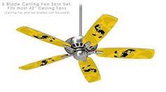 Ceiling Fan Skin Kit (fits most 42inch fans) - Iowa Hawkeyes Herky on Gold