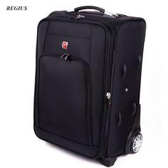"REGIUS Commercial Travel Bag Trolley luggage ,High Quality 20/24"" Travel Suitcase, Universal wheel Aluminium alloy rod Trolley"