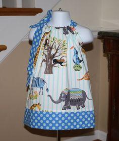 baby girl Pillowcase dress SALE Michael Miller by BlakeandBailey, $15.00