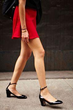 Beautiful Looks in Low Heels   Jolis looks avec des talons bas à voir absolument! #style
