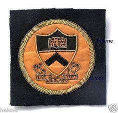 Original vintage PRINCETON UNIVERSITY sewn Bullion Jacket PATCH emblem badge shield