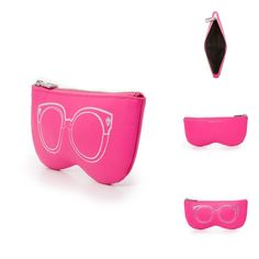 Rebecca Minkoff Leather Sunglasses Sunnies Pouch Flamingo Travel | eBay